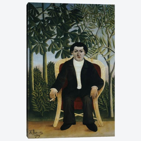 Portrait Of Joseph Brummer, 1909 Canvas Print #BMN6303} by Henri Rousseau Canvas Art