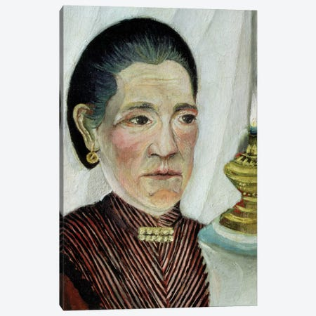 Portrait Of Josephine, The Artist's Second Wife, c.1900-03 3-Piece Canvas #BMN6304} by Henri Rousseau Art Print