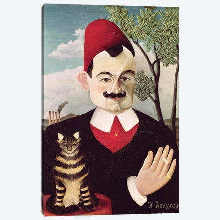 Portrait Of Pierre Loti, c.1891 Canvas Print #BMN6305} by Henri Rousseau Canvas Art Print