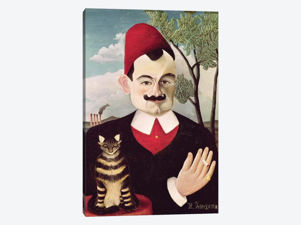 Portrait Of Pierre Loti, c.1891 by Henri Rousseau 1-piece Canvas Art