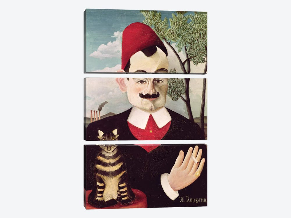 Portrait Of Pierre Loti, c.1891 by Henri Rousseau 3-piece Canvas Artwork