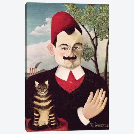 Portrait Of Pierre Loti, c.1891 Canvas Print #BMN6305} by Henri Rousseau Canvas Art Print
