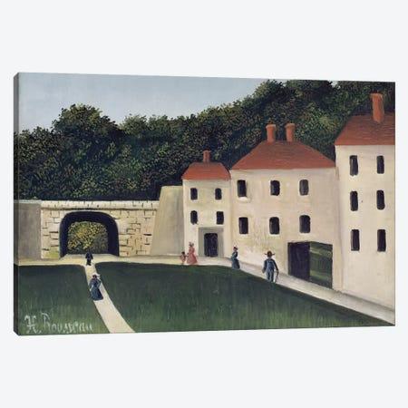 Promeneurs dans un Parc (Walkers In A Park), 1908 Canvas Print #BMN6306} by Henri Rousseau Art Print
