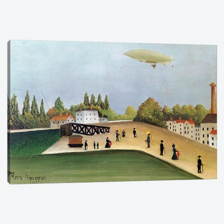 Quay At Ivry, c.1908 Canvas Print #BMN6307} by Henri Rousseau Art Print