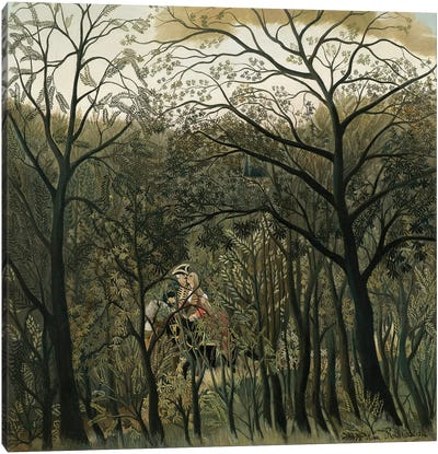Rendezvous In The Forest, 1889 Canvas Art Print