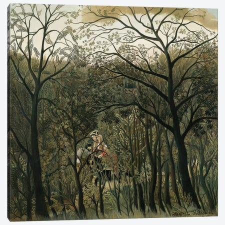 Rendezvous In The Forest, 1889 Canvas Print #BMN6308} by Henri Rousseau Canvas Wall Art