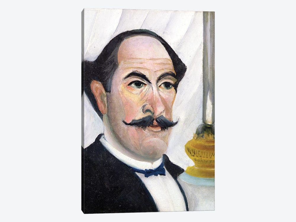 Self Portrait, c.1900-03 by Henri Rousseau 1-piece Canvas Artwork