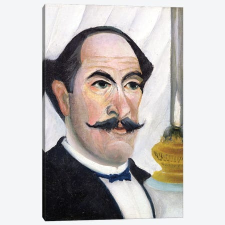 Self Portrait, c.1900-03 Canvas Print #BMN6310} by Henri Rousseau Art Print