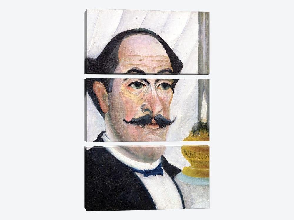 Self Portrait, c.1900-03 by Henri Rousseau 3-piece Canvas Artwork