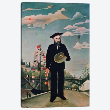 Self Portrait, from Ile Saint-Louis, 1890 Canvas Print #BMN6311} by Henri Rousseau Art Print