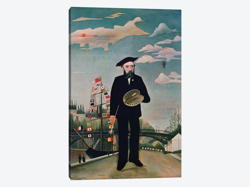Self Portrait, from Ile Saint-Louis, 1890 by Henri Rousseau 1-piece Art Print