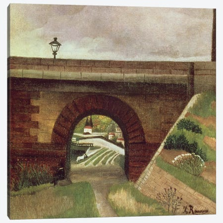 Sevres Bridge Canvas Print #BMN6312} by Henri Rousseau Canvas Art Print