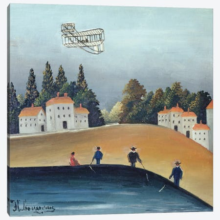 The Anglers, c.1908-09 Canvas Print #BMN6313} by Henri Rousseau Art Print