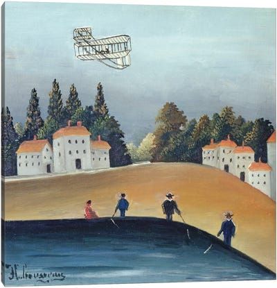 The Anglers, c.1908-09 Canvas Art Print