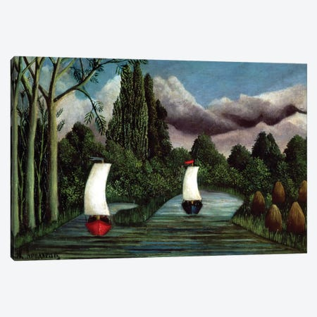 The Banks Of The Oise, 1905 Canvas Print #BMN6314} by Henri Rousseau Canvas Artwork