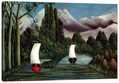 The Banks Of The Oise, 1905 Canvas Art Print