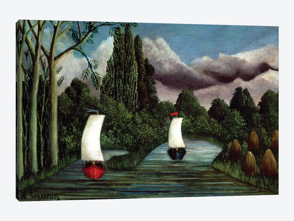 The Banks Of The Oise, 1905 by Henri Rousseau 1-piece Canvas Wall Art
