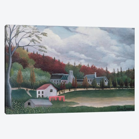The Bievre At Gentily, c.1895 Canvas Print #BMN6315} by Henri Rousseau Canvas Art