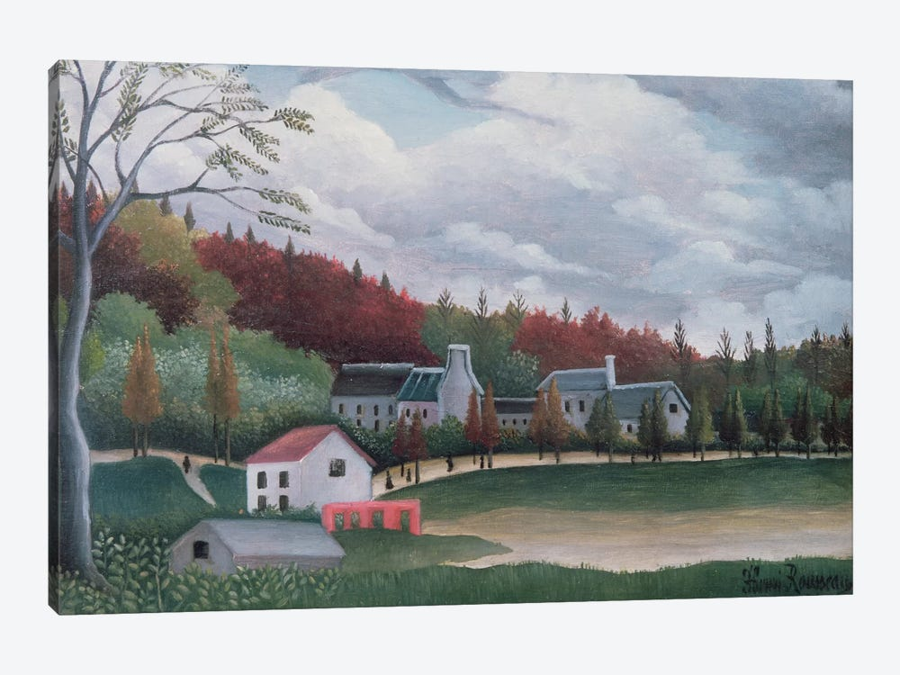 The Bievre At Gentily, c.1895 by Henri Rousseau 1-piece Canvas Art Print