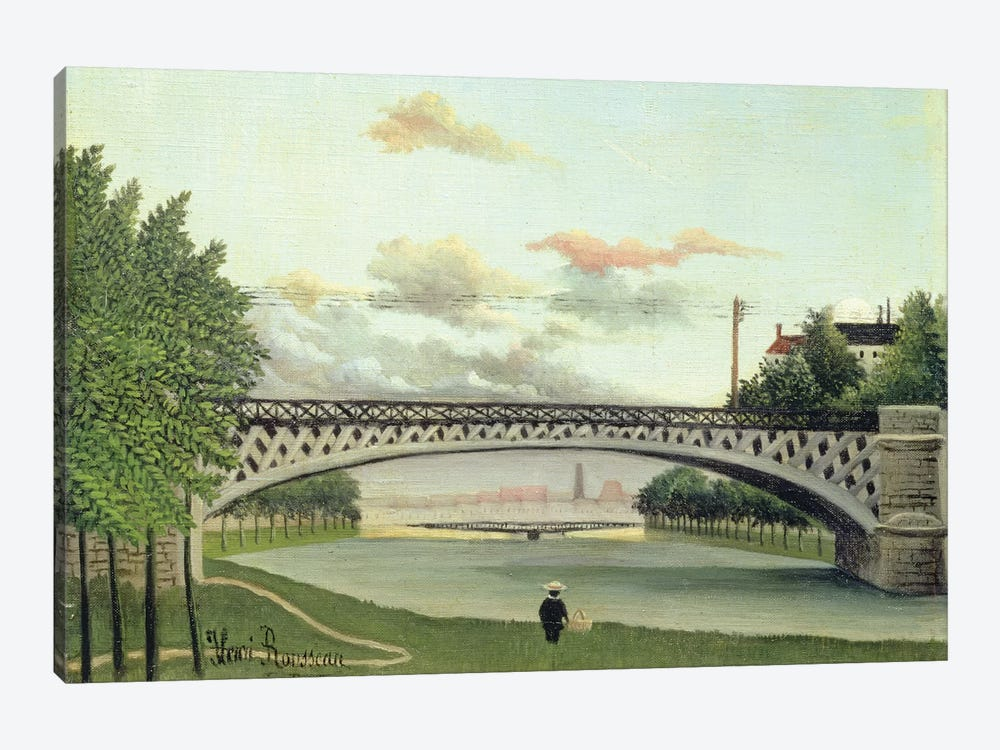 The Brdige At Charenton, France by Henri Rousseau 1-piece Canvas Artwork