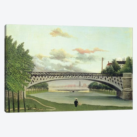The Brdige At Charenton, France Canvas Print #BMN6316} by Henri Rousseau Canvas Art