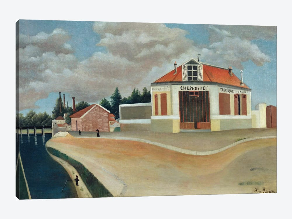 The Chair Factory At Alfortville, c.1897 by Henri Rousseau 1-piece Art Print