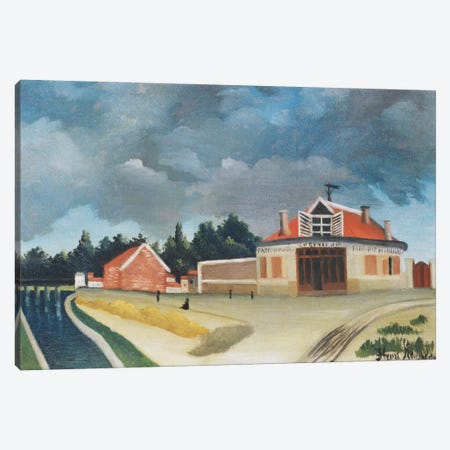 The Chair Factory At Alfortville, c.1897 Canvas Print #BMN6318} by Henri Rousseau Art Print