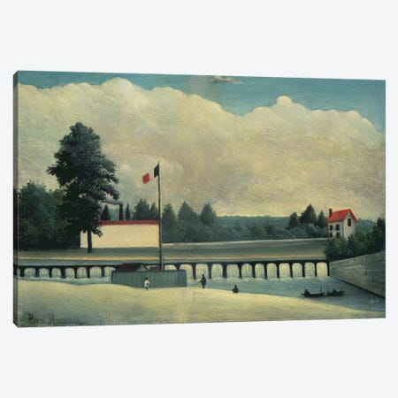 The Dam, 1891-93 Canvas Print #BMN6319} by Henri Rousseau Art Print