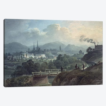 View of Shrewsbury across the Severn  Canvas Print #BMN631} by English School Canvas Art Print