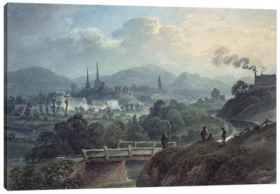 View of Shrewsbury across the Severn  Canvas Art Print