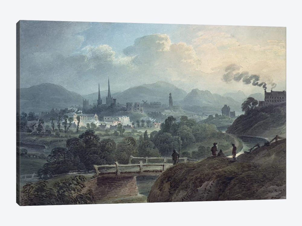 View of Shrewsbury across the Severn  by English School 1-piece Art Print