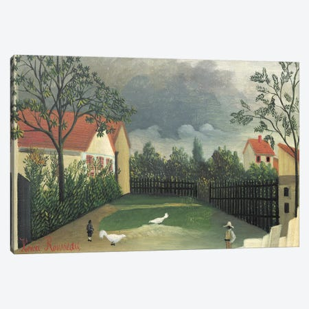 The Farm Yard, 1896-98 Canvas Print #BMN6320} by Henri Rousseau Canvas Artwork