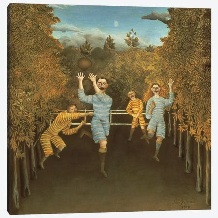 The Football Players, 1908 Canvas Print #BMN6321} by Henri Rousseau Canvas Art