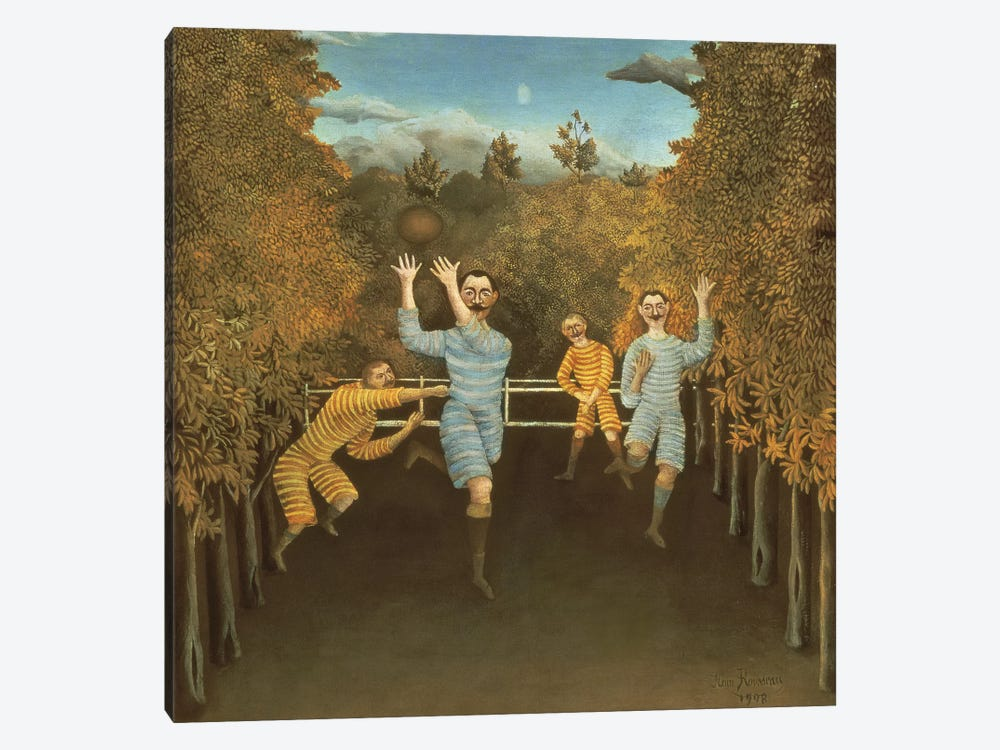 The Football Players, 1908 by Henri Rousseau 1-piece Canvas Artwork