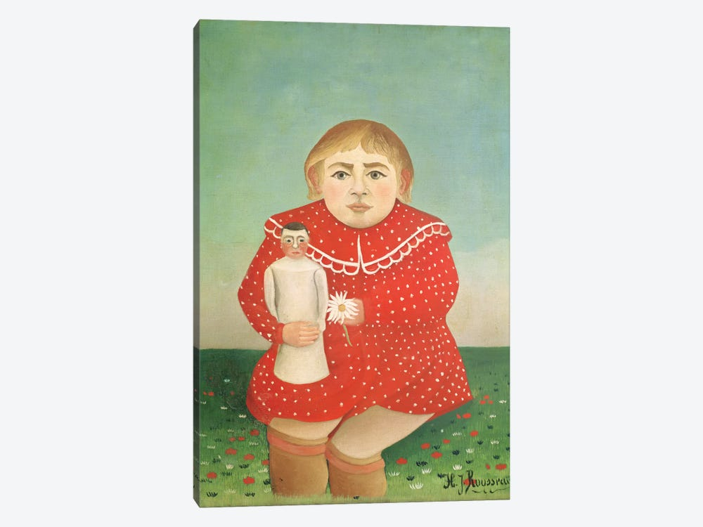 The Girl With A Doll, c.1892 by Henri Rousseau 1-piece Art Print