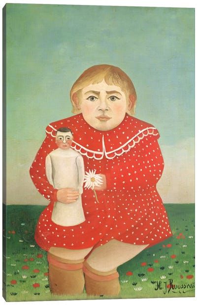 The Girl With A Doll, c.1892 Canvas Art Print