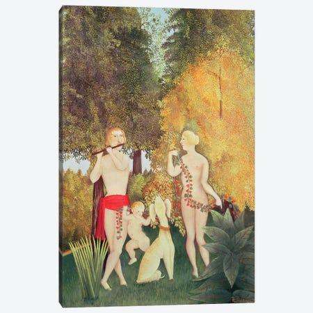 The Happy Quartet, 1902 Canvas Print #BMN6323} by Henri Rousseau Canvas Art