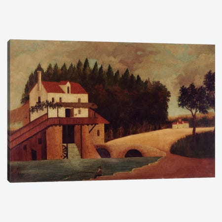 The Mill, c.1896 Canvas Print #BMN6325} by Henri Rousseau Canvas Art Print