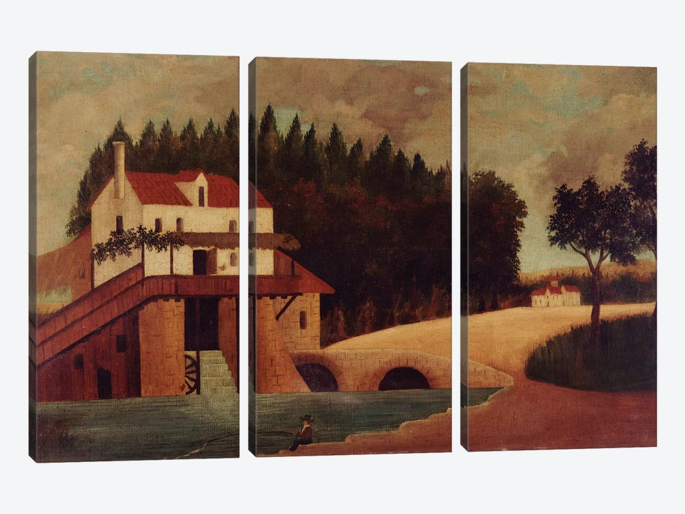 The Mill, c.1896 by Henri Rousseau 3-piece Canvas Artwork