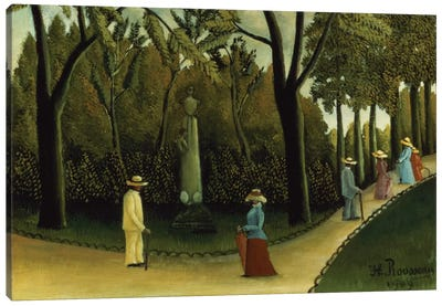 The Monument To Chopin In The Luxembourg Gardens, 1909 Canvas Art Print