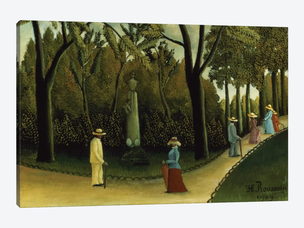 The Monument To Chopin In The Luxembourg Gardens, 1909 by Henri Rousseau 1-piece Art Print