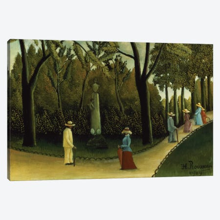 The Monument To Chopin In The Luxembourg Gardens, 1909 Canvas Print #BMN6326} by Henri Rousseau Art Print