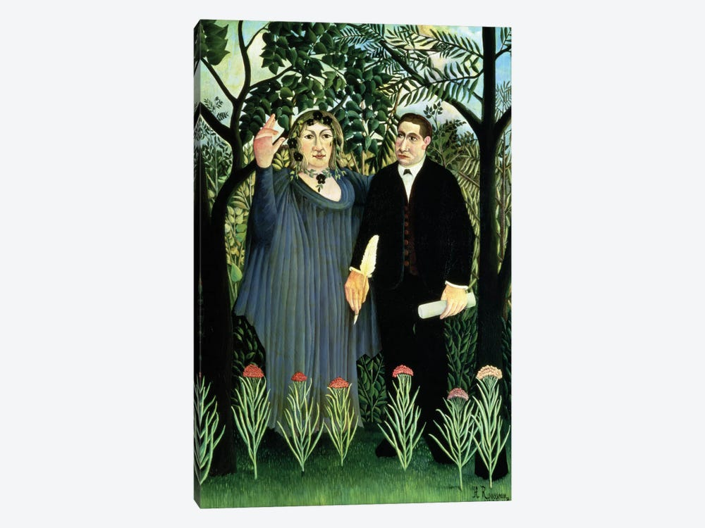 The Muse Inspiring The Poet, 1908-09 (Pushkin Museum) by Henri Rousseau 1-piece Canvas Wall Art