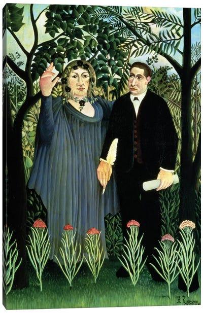 The Muse Inspiring The Poet, 1908-09 (Pushkin Museum) Canvas Art Print