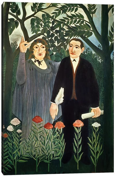 The Muse Inspiring The Poet, 1909 (Kunstmuseum Basel) Canvas Art Print