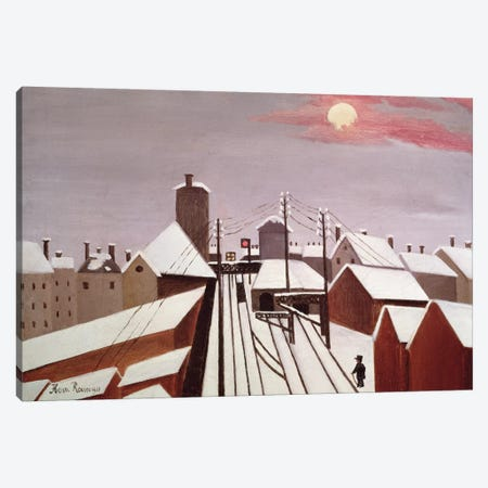The Railway Canvas Print #BMN6330} by Henri Rousseau Canvas Print