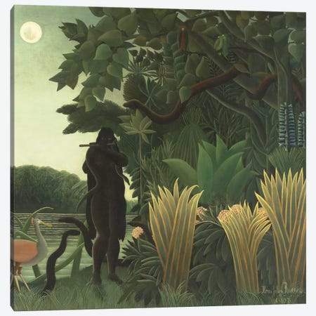 The Snake Charmer (La Charmeuse de Serpents), 1907 Canvas Print #BMN6331} by Henri Rousseau Canvas Art Print