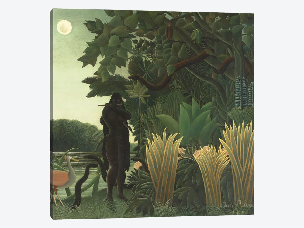 The Snake Charmer (La Charmeuse de Serpents), 1907 by Henri Rousseau 1-piece Art Print