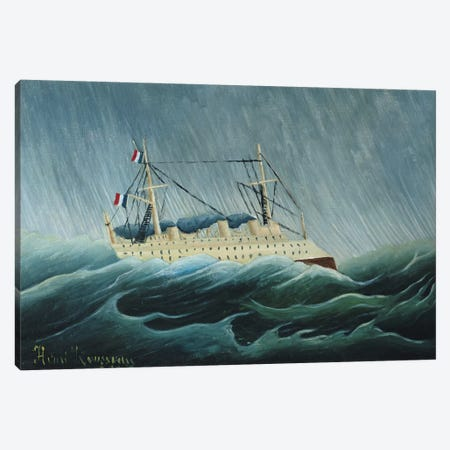 The Storm-Tossed Vessel, c.1899 Canvas Print #BMN6332} by Henri Rousseau Canvas Print