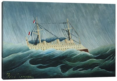 The Storm-Tossed Vessel, c.1899 Canvas Art Print